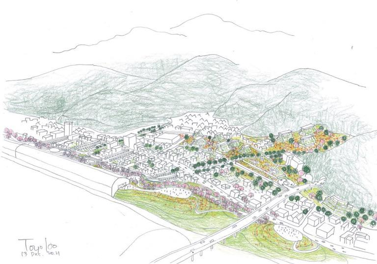 Sketch of Tobu District. © Toyo Ito